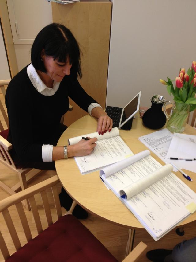 Jag undertecknar exploateringsavtalet för den första etappen av Kanalstaden 16/1-2013