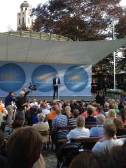 Fredrik Reinfeldt i toppform i Almedalen!