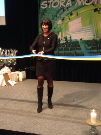 Michaela inviger Näringslivsdagen 2013