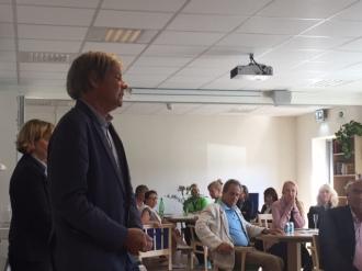 Mikael Ottosson håller ett inspirerande tal